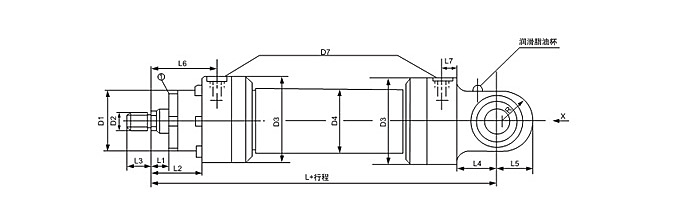 活塞式液压缸装配图》》摆动液压缸装配图》》单杆缸图片